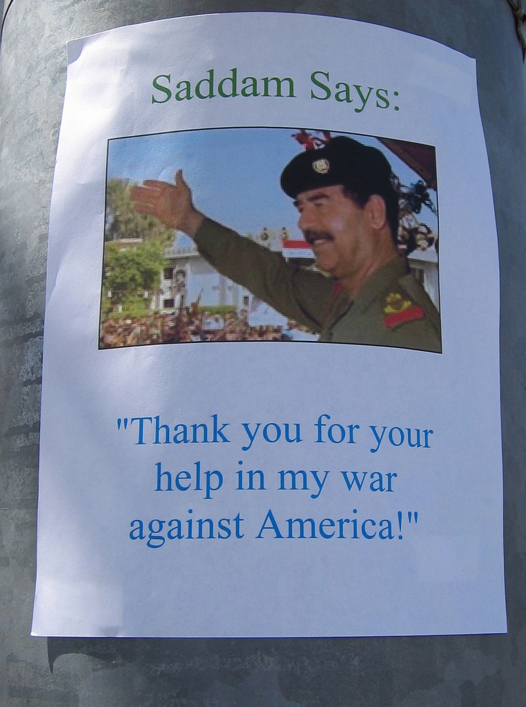 One of the signs we placed along the route